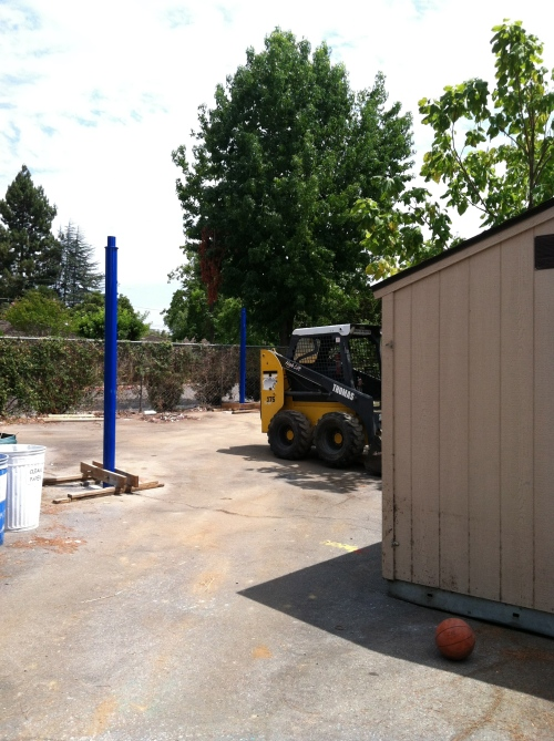 Kindergarten Sunshade is well underway!