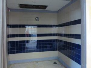 Restroom tiled!